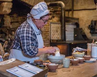 Cocina de pasteles 'madeleine' al miel